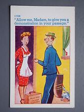R&L Postcard: Comic, C Richter 11938, Door-to-Door Vacuum Cleaner Salesman