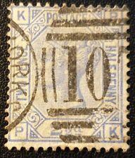 Duzik: Gb Qv Sg157 blue Plate23 P-K used stamp (No2107)*