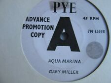 "45   GARY MILLER     AQUA MARINA / STINGRAY    UK.   DEMO     7"" (LOT OF 4)"