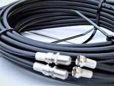 5m Black Twin Shotgun Satellite Cable Ext Kit for Sky+ HD SKY Q SKY Q ULTRA P