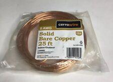 Cerrowire 050-2000A 25-Feet 8 Gauge Bare Solid Copper Wire