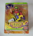 Fisher Price Rescue Heroes ⚓ Body Force ⚓ Ben Choppin Forest Ranger #78318