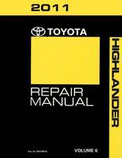 2011 Toyota Highlander Shop Service Repair Manual Book VOLUME 6 Only
