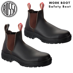 Rossi Work Safety Boots Steel Toe Cap Bobcat Leather Men's Shoes
