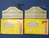 2 x Faller AMS 4710 curva 2 corsie / 1-spurig scatola originale