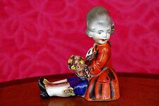 VINTAGE Goebel Porcellana Colonial Boy FERMALIBRI/Figurina