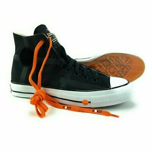 Converse X Rokit Men's Chuck 70 HI Black Orange Skate Shoes 168211C Size 8.5