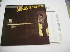 BILLY JOEL - SONGS IN THE ATTIC - LP REISSUE NEW UNPLAYED HOLLAND