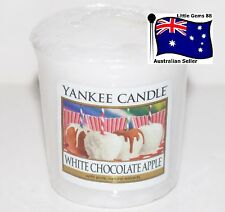 YANKEE CANDLE Votive Candle * White Chocolate Apple * SCENT 15 HOURS BURNING