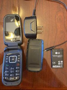 LG True B460 - 256MB - Black (TracFone) Flip Basic Phone - Tested - Bundle