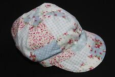 2140a1e676cd29 Cool Unique Baby Hat Blue  Pink Floral Print 5 panel Style Cap Swag (S254