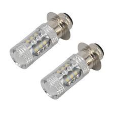 2 PCS 80W Super White LED Headlights Bulbs Upgrade For YFM350 400 450 660 700