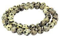 😏 Dalmatiner Jaspis Kugeln 8 mm Perlen Jaspis Strang für Mala, Kette & mehr 😉