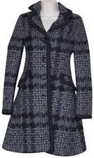 Sisley Gray Black Wool Blend Print Multicolored Coat Size: XS/ Italy 38