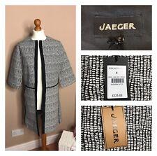 Jaeger Abrigo/Chaqueta Blanco Negro-Talla 8-Nuevo Con Etiquetas De Diseñador £ 225 Duster