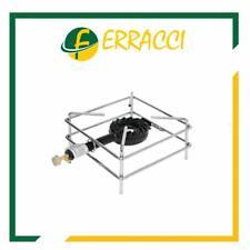 FORNELLONE A GAS CROMATO 30x30 BRUCIATORE IN GHISA + RUBINETTO