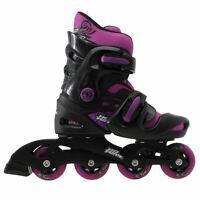 No Fear Kids Girls Inline Skates Removable Sock Adjustable Footplate