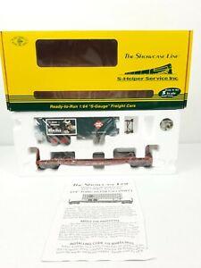 Showcase Line S Helper 01811 TOFC REA / TTX 475007 Christmas Trailer S Gauge NIB