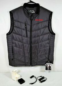 Genuine Polaris Rechargeable Heated Snowmobile Vest Dk Gray Mens Extra Large New
