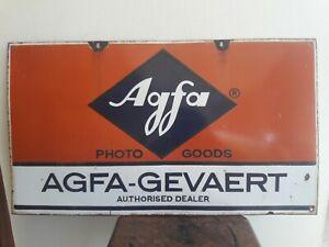 AGFA-GEVAERT Agfa Photo Goods Double/Sided Advt. Tin Porcelain Enamel Sign board