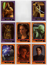Topps Star Wars Galactic Files 2 - 8 Blue Parallel Cards Characters Yoda R2-D2