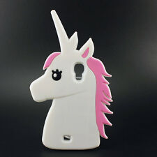 Cartoon 3D Unicorn horse Silicone Case Phone cover for Samsung Galaxy S4 i9500
