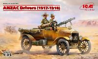 ANZAC Drivers (1917-1918) (2 figures) Plastic model kit  1/35 ICM 35707