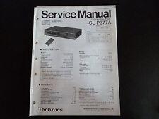 Original Service Manual Technics sl-p377a