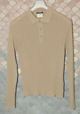 "Ferre  ""Jeans"" Vintage Long Sleeve Polo Shirt/Sweater, 3 Button, Never Worn, L"