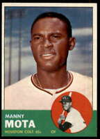 Manny Mota Rookie Card 1963 Topps #141
