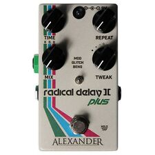 Alexander Pedals Radical Delay II+ (2 Plus) Guitar Effects Pedal +Picks