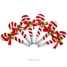 6pcs Cartoon Christmas Decor Crutch Pen Pencil Cover Clothes Home Decoration