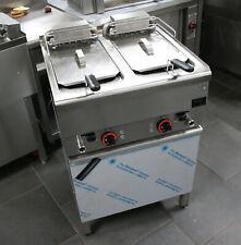 EKU Doppelfriteuse 12 kW + Untergestell + Pommesschublade + 12 Monate Garantie*
