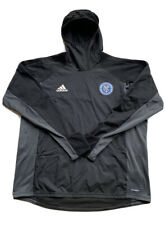 adidas Official MLS NYCFC Soccer Team Black Hoodie Pullover AY2867 Men Size XL