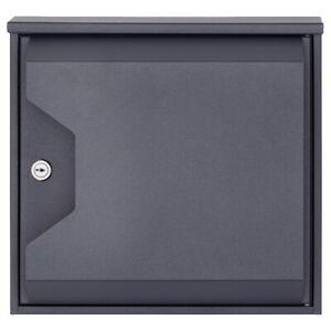 Design-Briefkasten HESSE 155-DB703 mit Zeitungsfach - DB 703 eisenglimmer