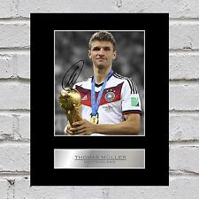 Thomas Müller Signed Mounted Photo Display Deutschland