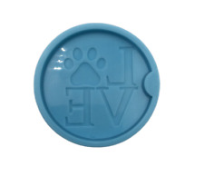 Dog Love Car Coaster Silicone Mold for Epoxy Resin Crafts