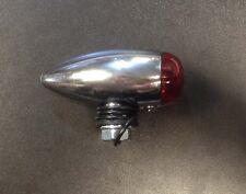 """Bullet light 1"""" in chrome with red lens for Vespa LML & Lambretta"""