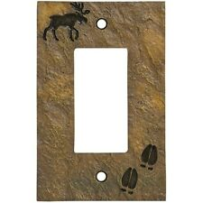 Moose Decora Switch plate (Slate Look) by Big Sky Carvers
