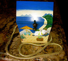 AUTHENTIC TIMMY WOODS SPOILED KITTY CAT CRUISE VACATION BEACH HOUSE PURSE BAG