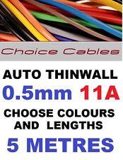 5m De 0,5 mm 12v Auto Cable De 11 A 16/0.2 coche barco Telar de alambre