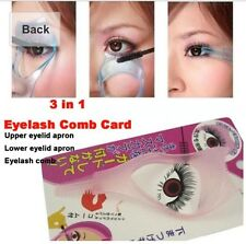 Eye Make Up Tool Eyelash Mascara Pink Applicator Template Comb Guide Guard New