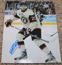Mikhail Grigorenko signed Quebec Remparts 8x10 photo COA