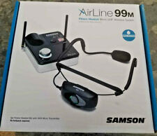 NEW Samson AirLine 99m Fitness Wireless Headset System K Band Yoga Spin Class