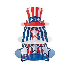 "Foam Patriotic Cupcake Holder (16"" Tall with a 12"" Base)"