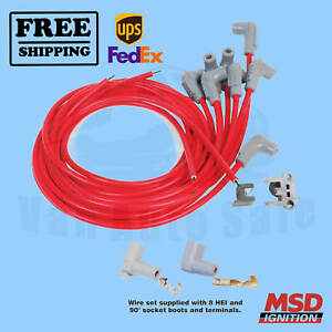 Spark Plug Wire Set MSD for GMC C15/C1500 Suburban 1967-1968