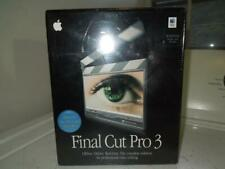 New Final Cut Pro 3 Video Editing Software Full Version for Apple Mac OS X & OS9