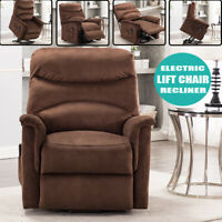 Electric Lift Recliner Chair Sofa Bed Sleeper Couch Padded Seat Furniture Chaise