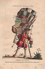 Admira La Force - Holzstich um 1870 nach einer Karikatur von 1721 - Original!