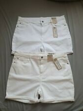 MARKS AND SPENCER DENIM SHORTS 2 PAIRS LADIES WITH UK20 EU48 NEW